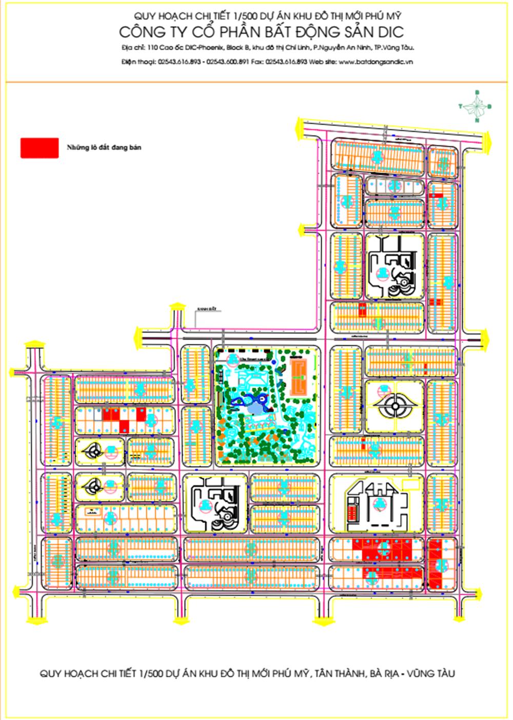 Mặt bằng chi tiết dự án ATA Phú Mỹ Bà Rịa