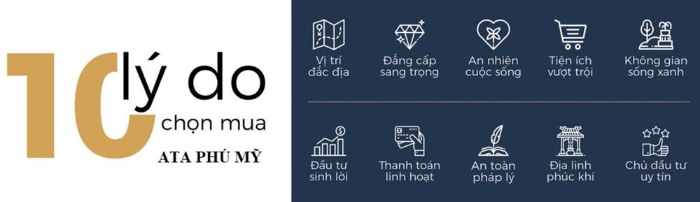 10 lý do nên mua dự án ATA thị xã Phú Mỹ