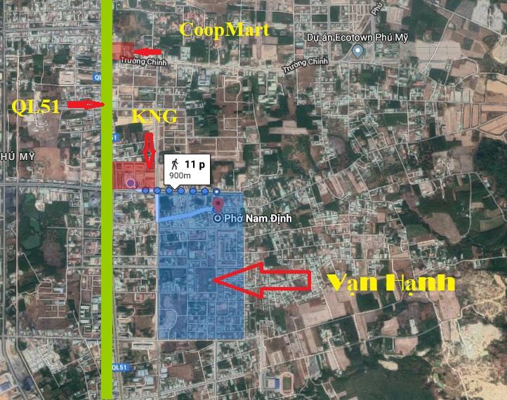 Vị trí đất tái định cư Vạn Hạnh Phú Mỹ