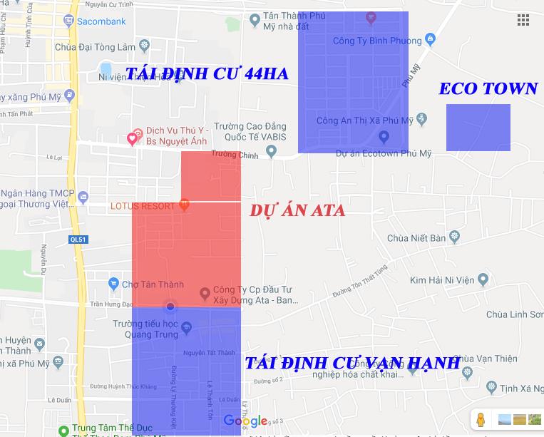 Vị trí dự án đất nền ATA Phú Mỹ